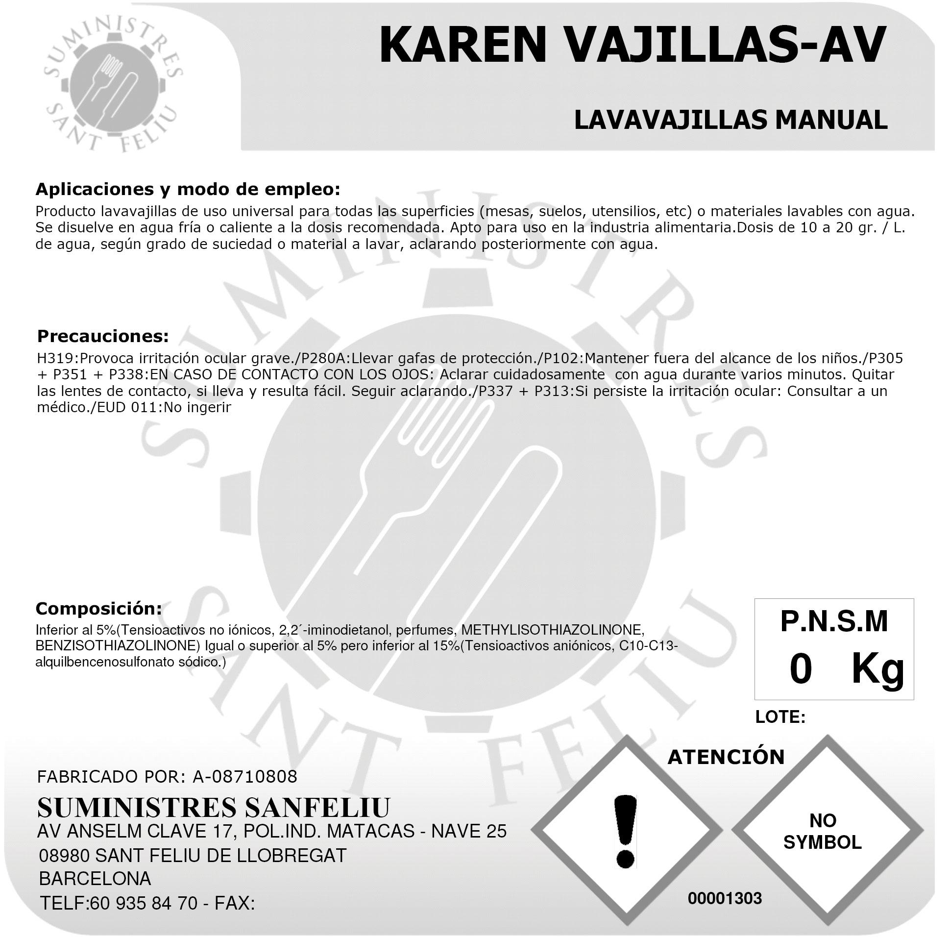 Lavavajillas Manual Concentrado Profesional